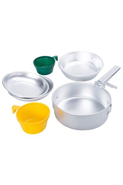 Two Person Cook Set - Silver