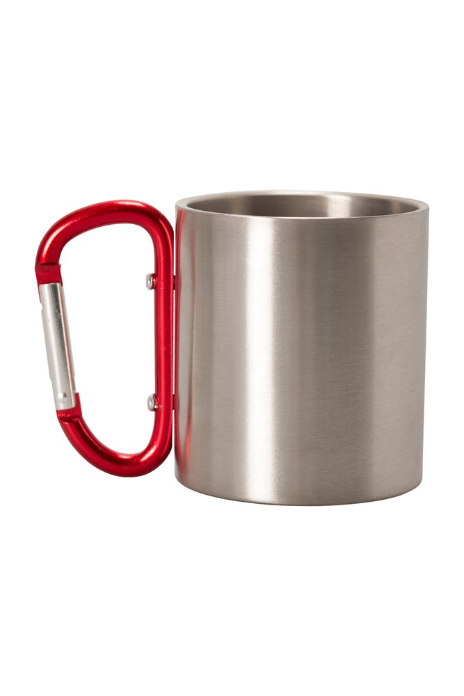 Mug with Karabiner Handle - Red