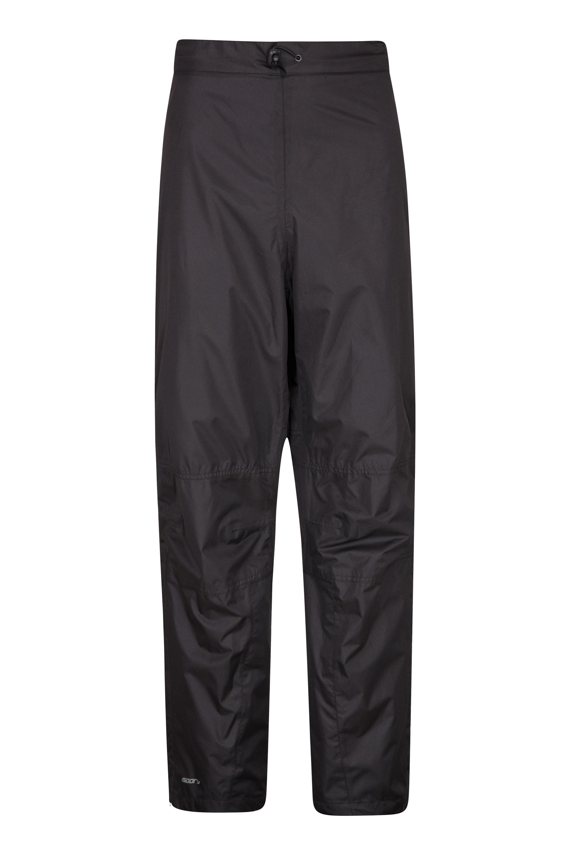 Spray Mens Waterproof Short Length Trousers - Black