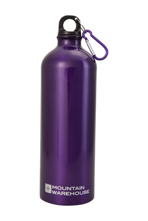 1L Metallic Bottle With Karabiner