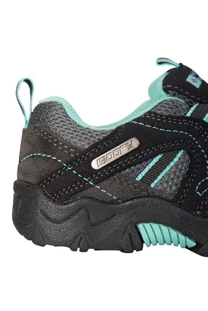 Mountain Warehouse Walking Shoes Stampede Kids Waterproof Suede and Mesh Upper