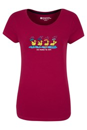 Nice Weather For Ducks Womens Cotton T-Shirt