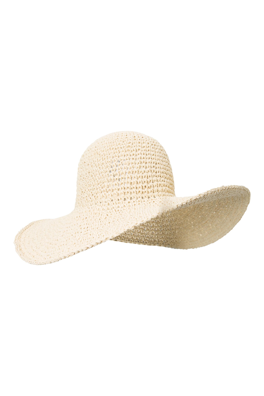 100% Straw Brimmed Hat - Beige