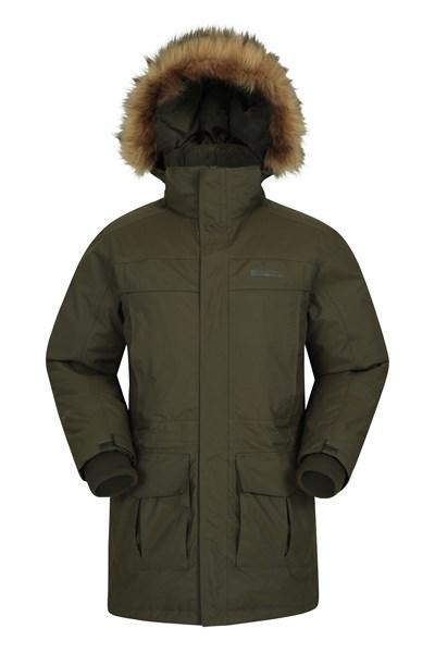 Antarctic Extreme Waterproof Mens Down Jacket - Green