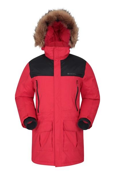 Antarctic Extreme Waterproof Mens Down Jacket - Dark Red