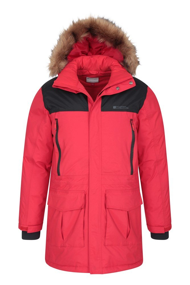 Mountain Warehouse Antarctic Mens Waterproof Puffer Rain Jacket