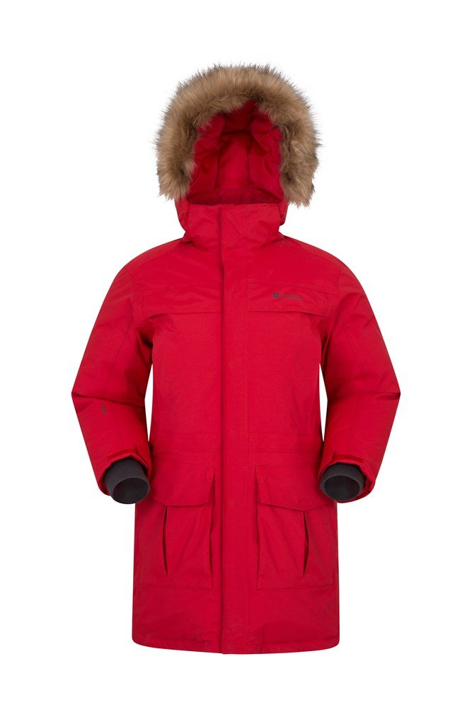 Antarctic Extreme Mens Down Jacket - Red