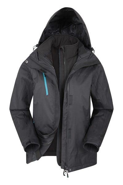 Bracken Extreme Womens 3 in 1 Waterproof Jacket - Charcoal
