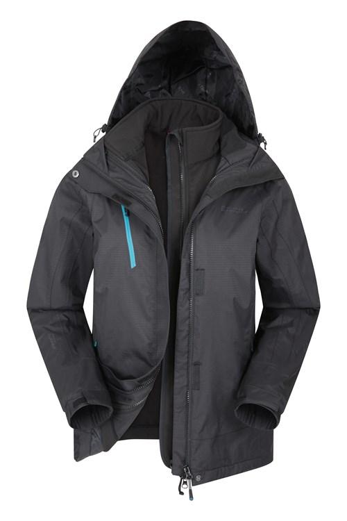 Mountain Warehouse Mens 3 in 1 Waterproof Coat Rain Jacket Softshell Inner