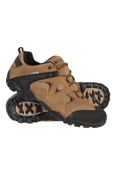 Curlews Mens Waterproof Walking Shoes - Beige