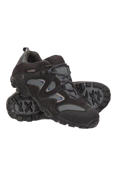 Curlews Mens Waterproof Walking Shoes - Grey