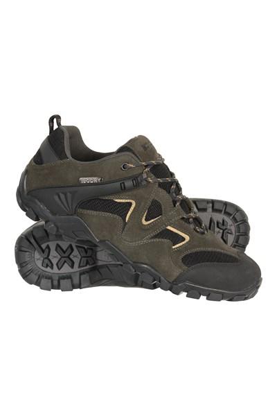 Curlews Mens Waterproof Walking Shoes - Green