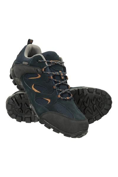 Curlews Mens Waterproof Walking Shoes - Navy