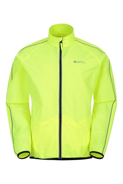 Force Mens Reflective Water-Resistant Running Jacket - Yellow