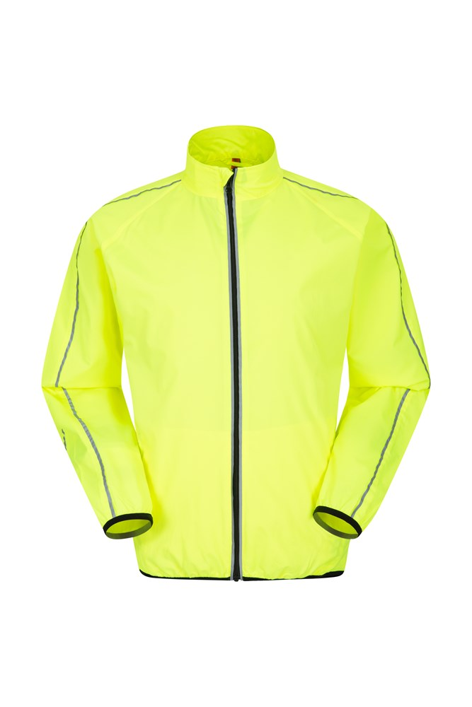 d2b9874bc2c Force Mens Reflective Water-Resistant Running Jacket - Yellow