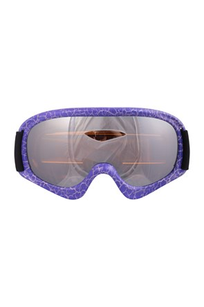 Kids Patterned Ski Goggles