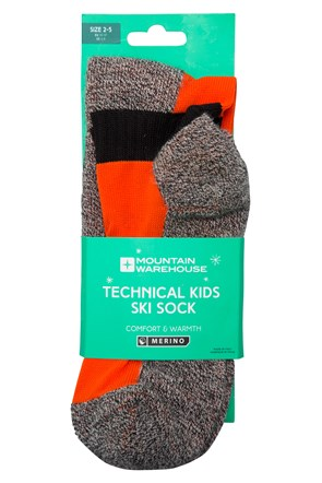 Merino Technical Kids Ski Socks