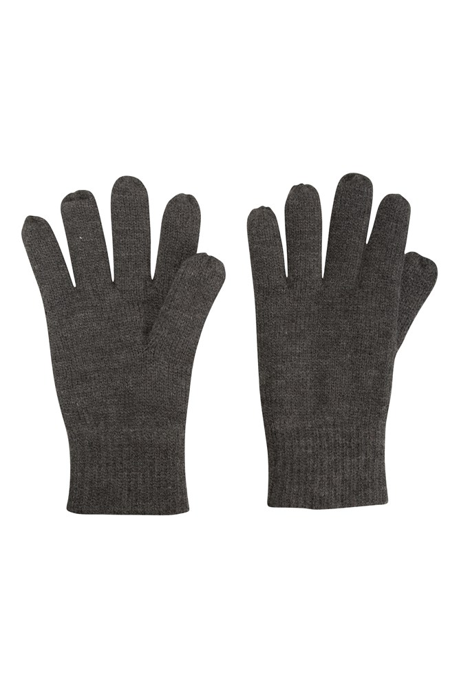 Thinsulate Mens Knitted Gloves - Grey