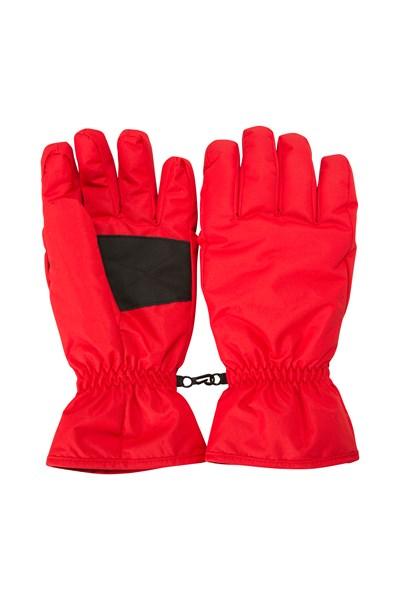 Mens Ski Gloves - Red