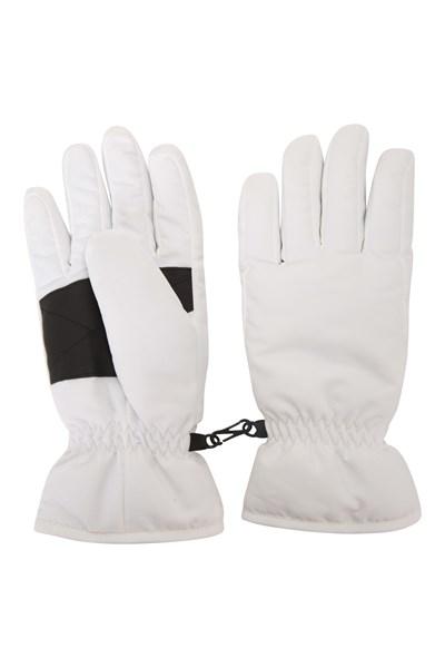 Womens Ski Gloves - White