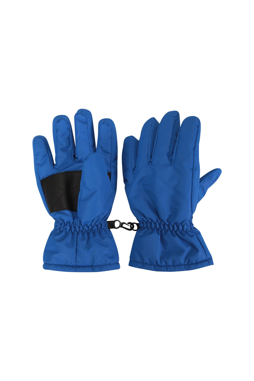 Kids Ski Gloves - Blue