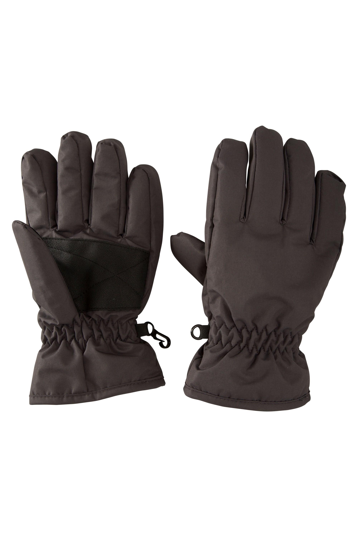 Kids Ski Gloves - Grey