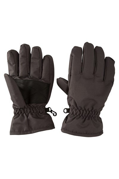 Kids Ski Gloves - Grey