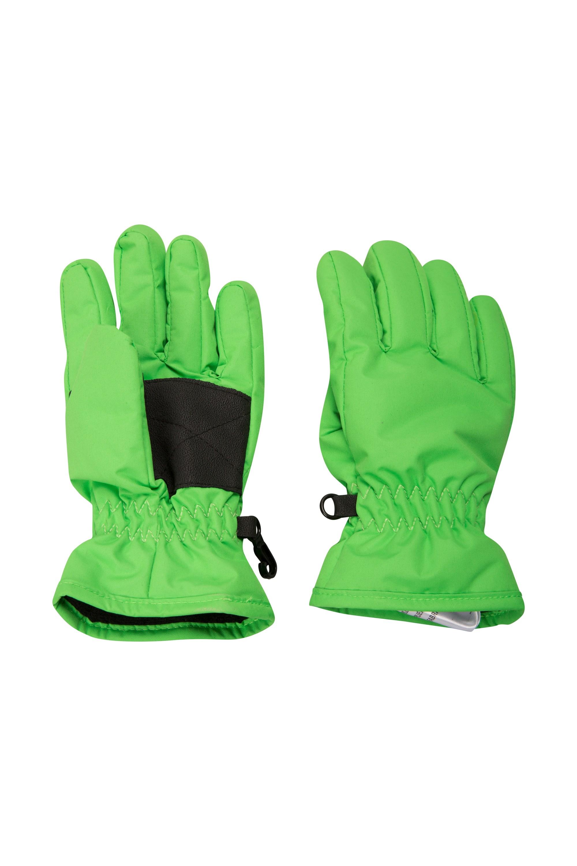 Kids Ski Gloves - Green
