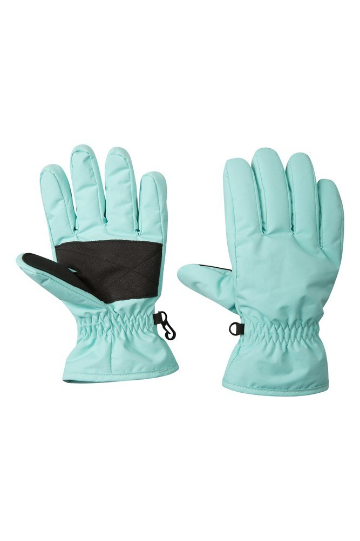 Kids Ski Gloves - Teal