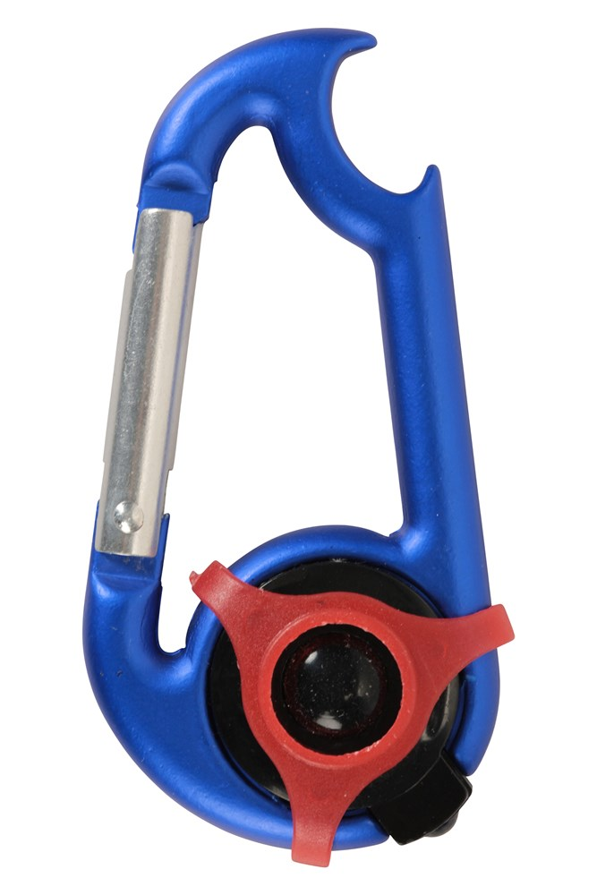 Karabiner - Led With Bottle Opener - Blue