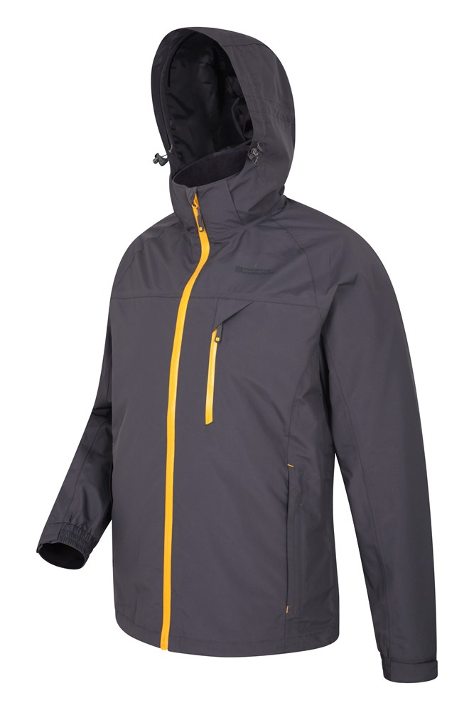 Mountain Warehouse Brisk Extreme Girls Waterproof Jacket Chin Guard Elasticated Hood /& Cuff Waterproof Breathable IsoDry Fabric with Taped Seams Velcro Fastening