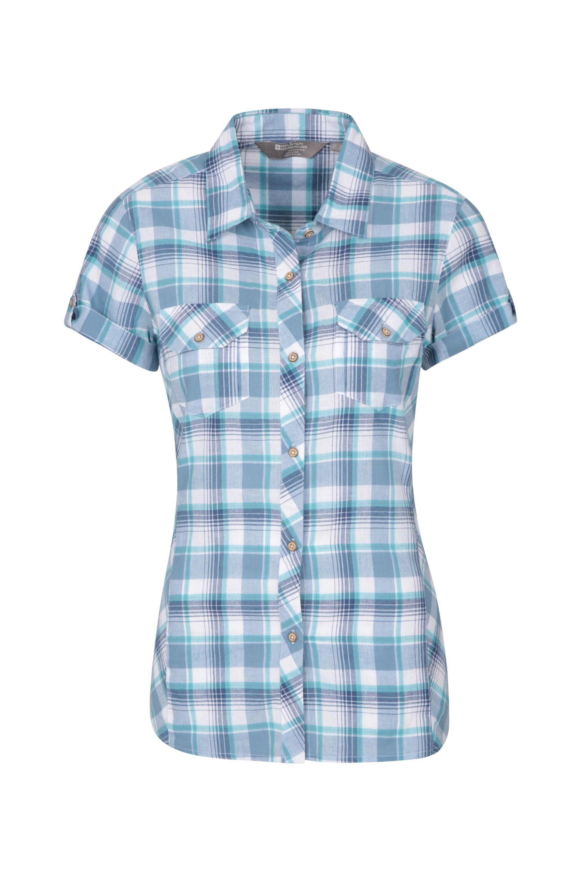 Holiday Womens Cotton Shirt - Blue