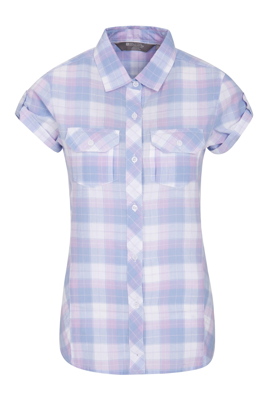 Holiday Womens Cotton Shirt - Purple