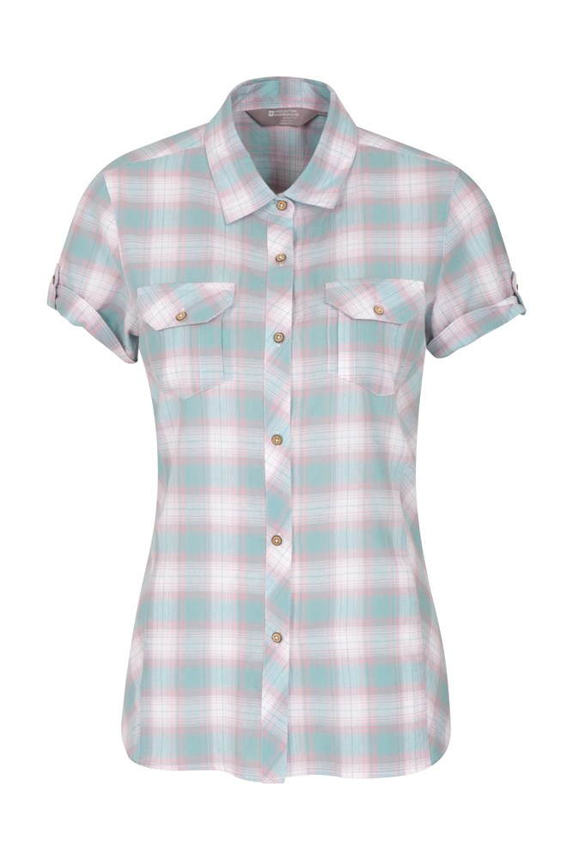 Holiday Womens Cotton Shirt - Green