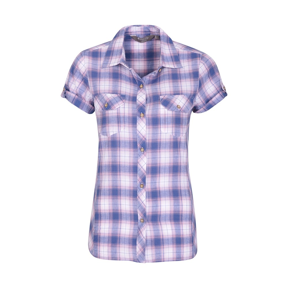Mountain Warehouse Womens Lightweight Shirt 100/% Cotton Made of Natural Fibres