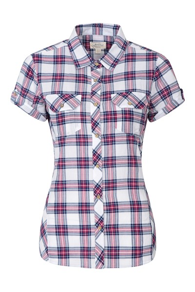 Holiday Womens Cotton Shirt - Red