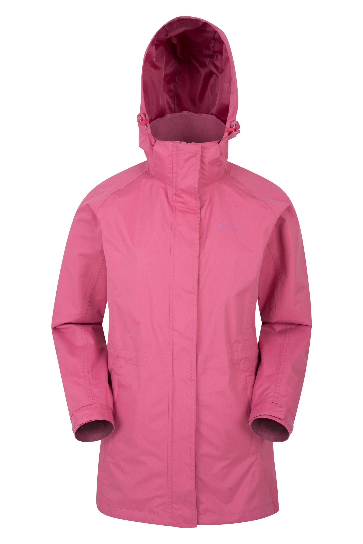 Omega Womens Waterproof Long Jacket - Pink