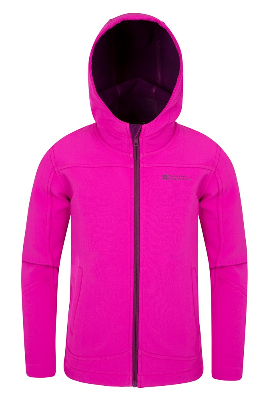 Mountain Warehouse Exodus Kids Softshell Jacket Soft Shell Sweater