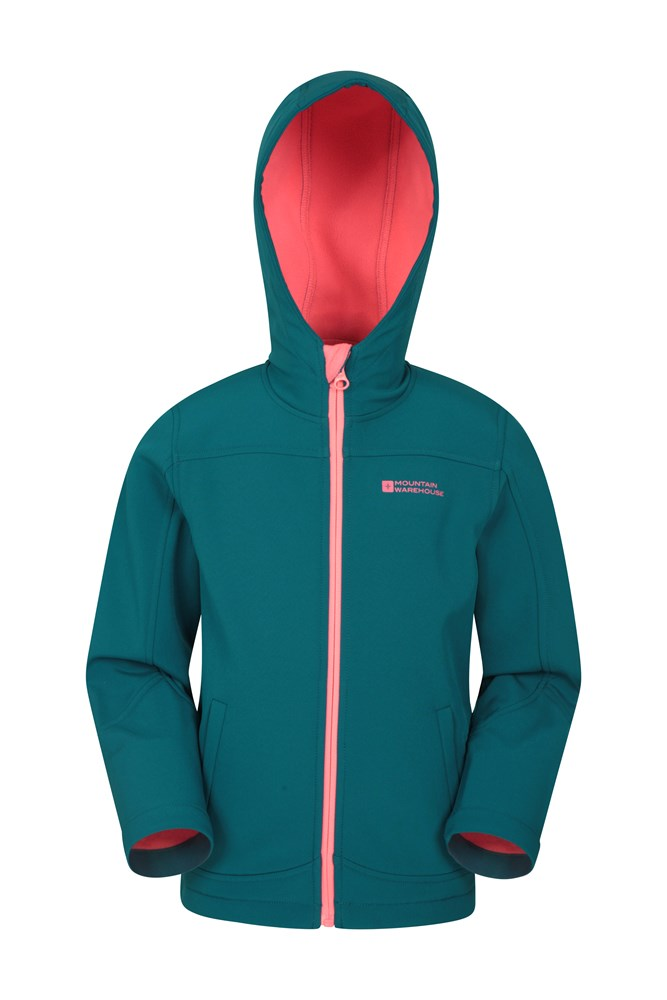 b3506dcc296a Exodus Kids Water Resistant Softshell | Mountain Warehouse CA