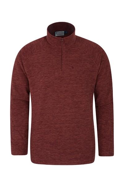 Snowdon Mens Micro Fleece - Dark Red