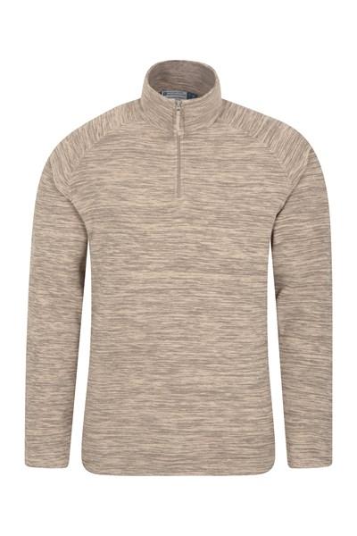 Snowdon Mens Micro Fleece - Brown