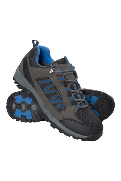Path Waterproof Mens Walking Shoes - Grey