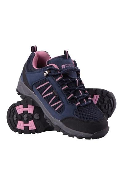 Path Waterproof Womens Walking Shoes - Navy
