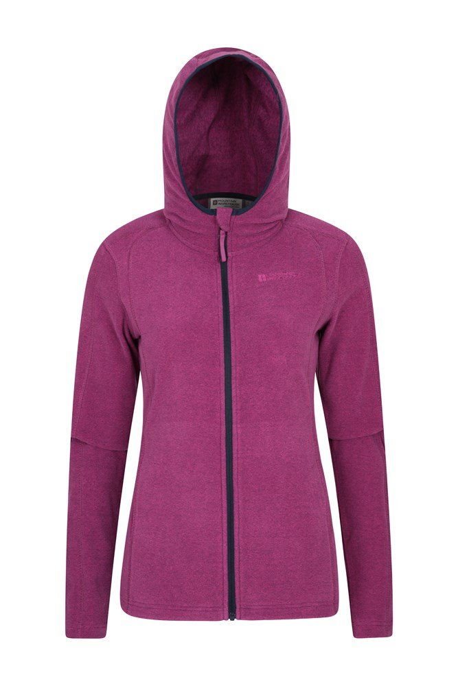Hebridean Melange Womens Fleece - Pink