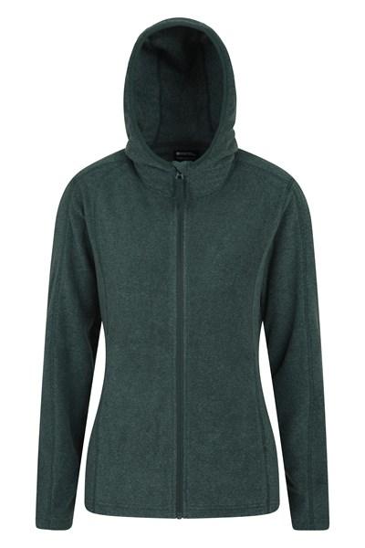 Hebridean Melange Womens Fleece-Hoodie - Green