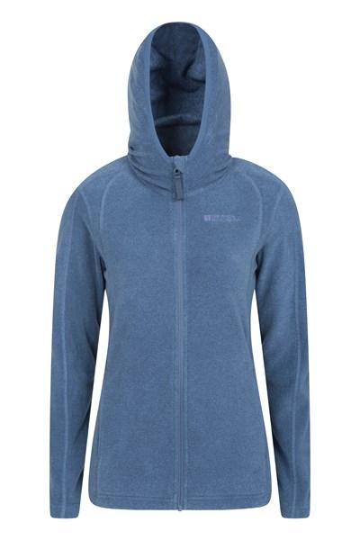 Hebridean Melange Womens Fleece-Hoodie - Navy