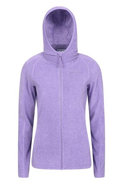 Hebridean Melange Womens Fleece-Hoodie - Purple