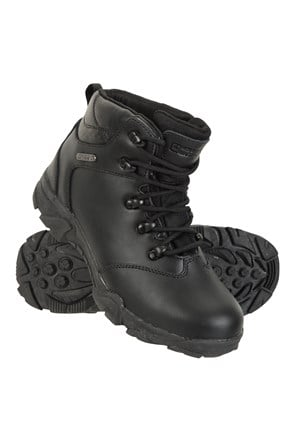 Canyon Kids Leather Waterproof Walking Boots