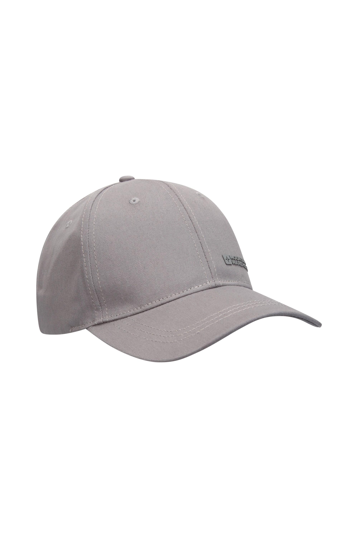 One Size Mountain Warehouse 100/% Cotton Men  Melange Baseball Cap In Grey