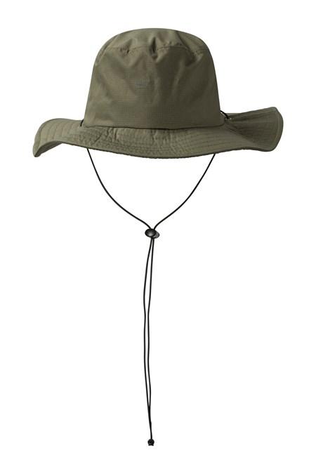 Australian Wide Brimmed Waterproof Hat - Khaki 942d78e614a